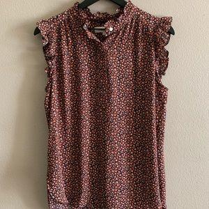 Floral sleeveless blouse 🌻